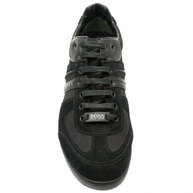 Athleisure Mens Black Akeen Trainers