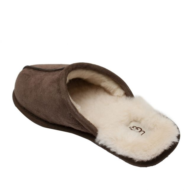 Mens Espresso Scuff Slippers
