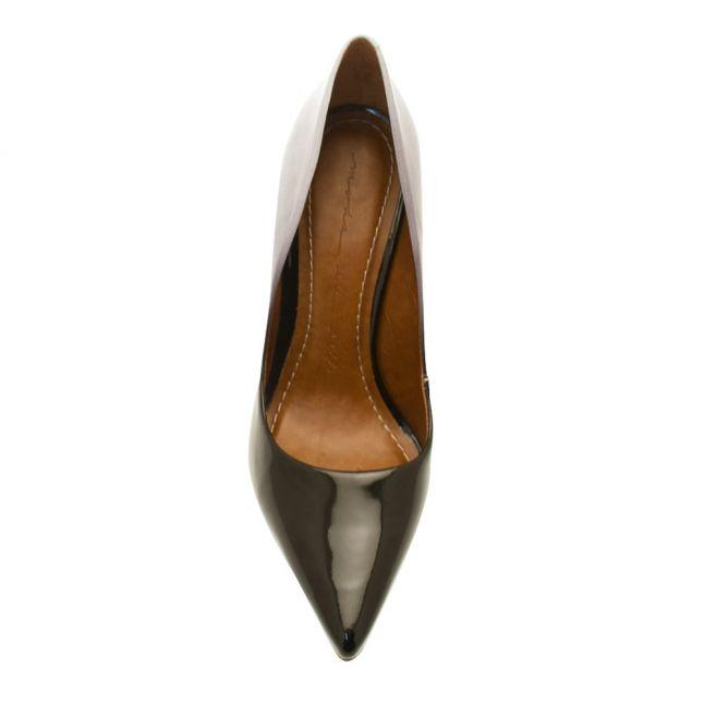 Womens Black Cristina Two Tone Heeled Shoes