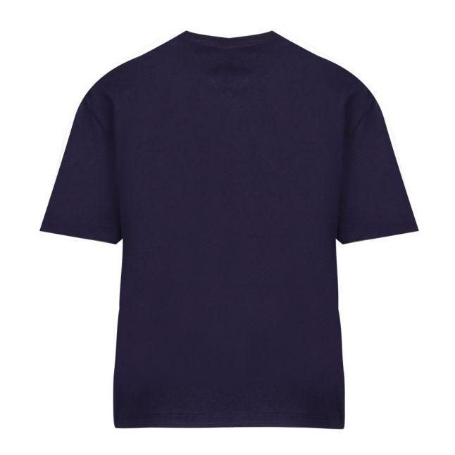 Womens Black Iris Linear Logo S/s T Shirt