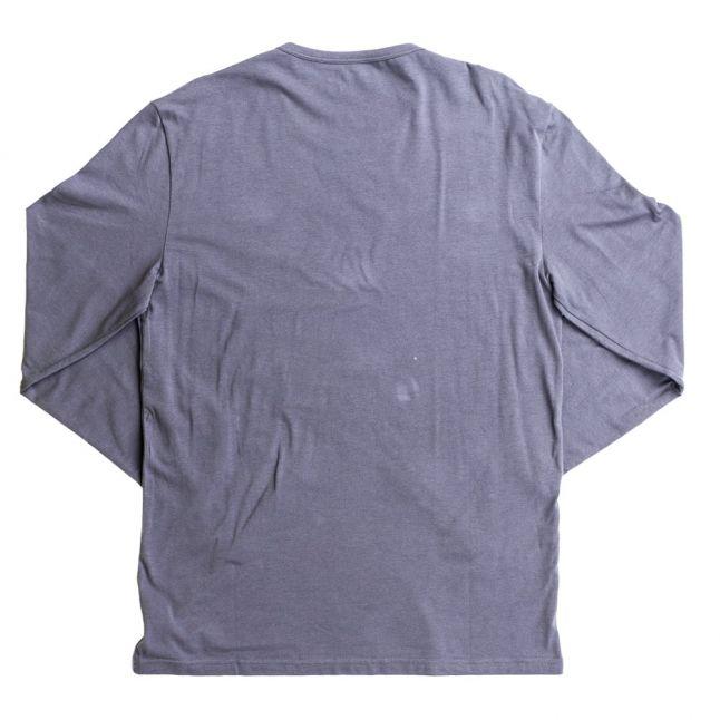 Mens Grey Small Logo Crew L/s Tee Shirt