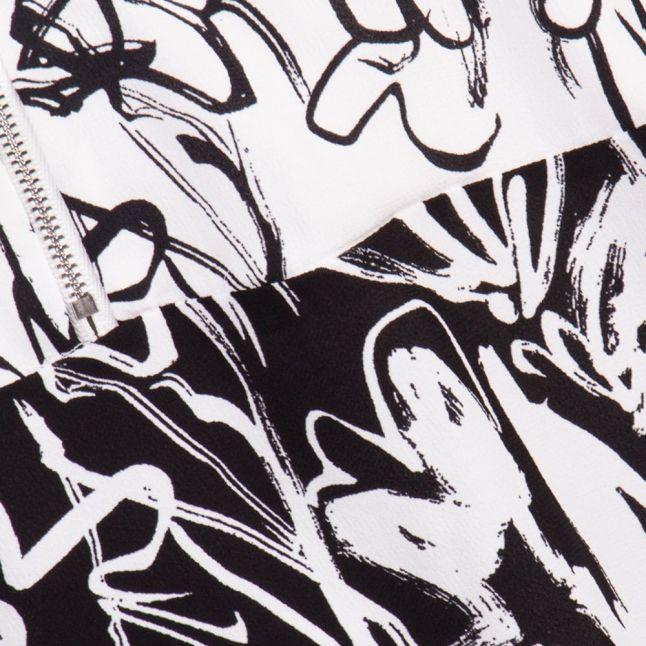 Summer White & Black Copley Crepe Zip Top