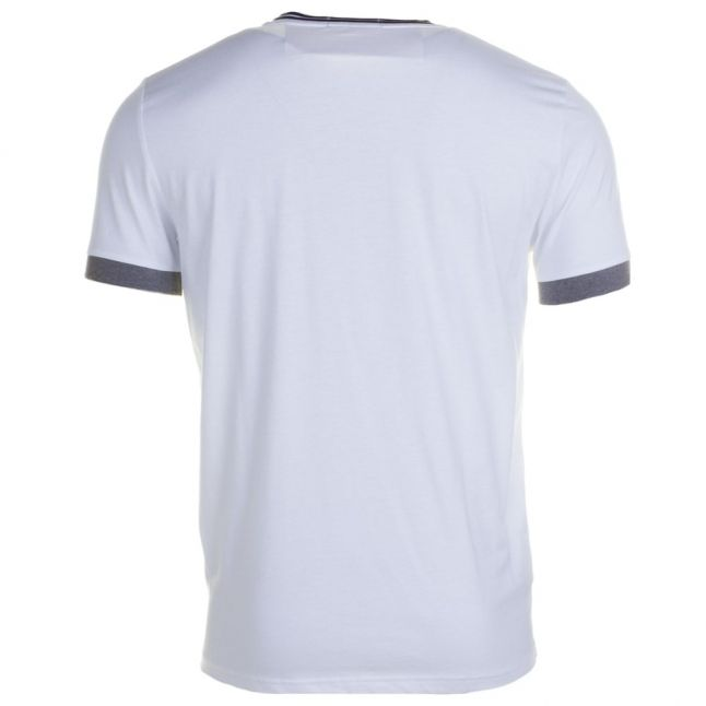 Mens White Tipped Ringer S/s Tee Shirt