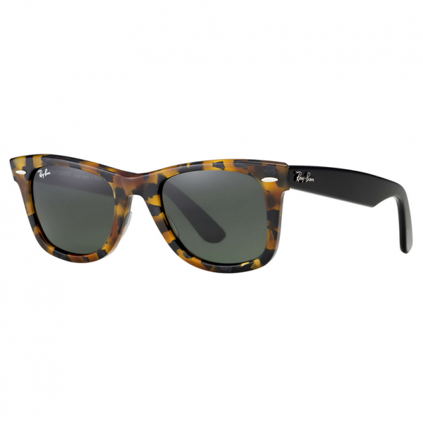 Spotted Black Havana RB2140 Wayfarer Sunglasses