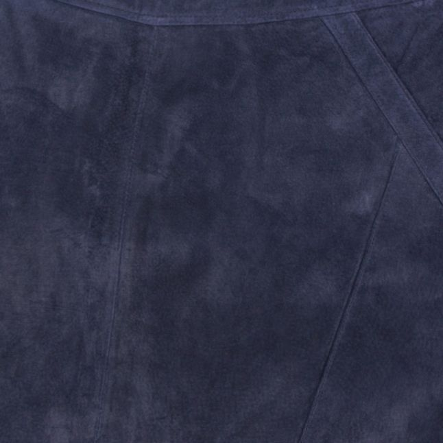 Womens Navy Visusa Suede Skirt