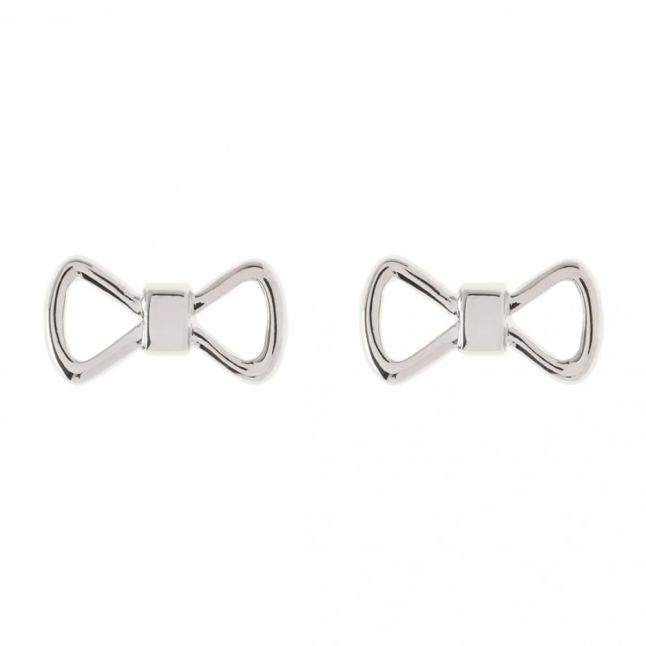 Womens Silver Alie Bow Studs