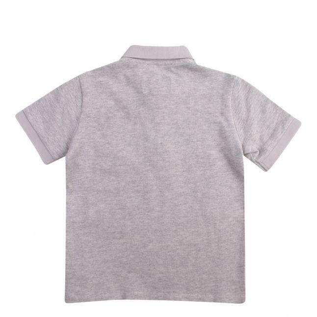 Boys Grey Melange Eagle Patch S/s Polo Shirt