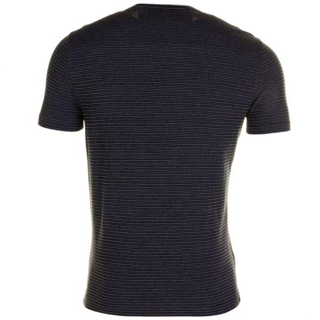 Mens Black Engineered Stripe S/s Tee Shirt