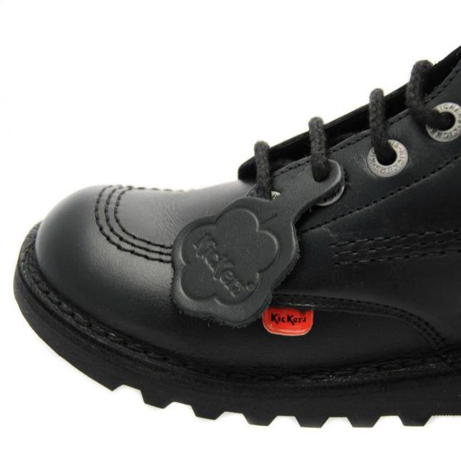 Youth Black Kick Hi Shoes (3-6)