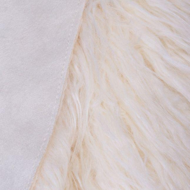 Womens Cream Faux Fur Reversible Gilet