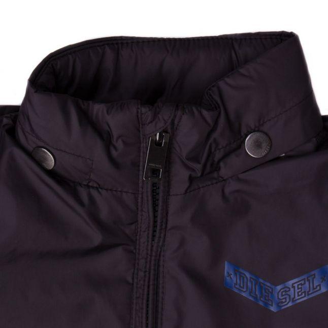 Boys Black Branded Nylon Jacket