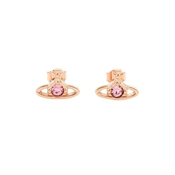Womens Rose Gold Nano Solitaire Earrings