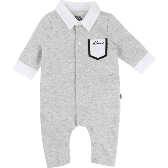 Baby Grey Shirt Romper