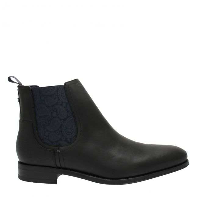 Mens Black Tradd Elastic Ankle Boots