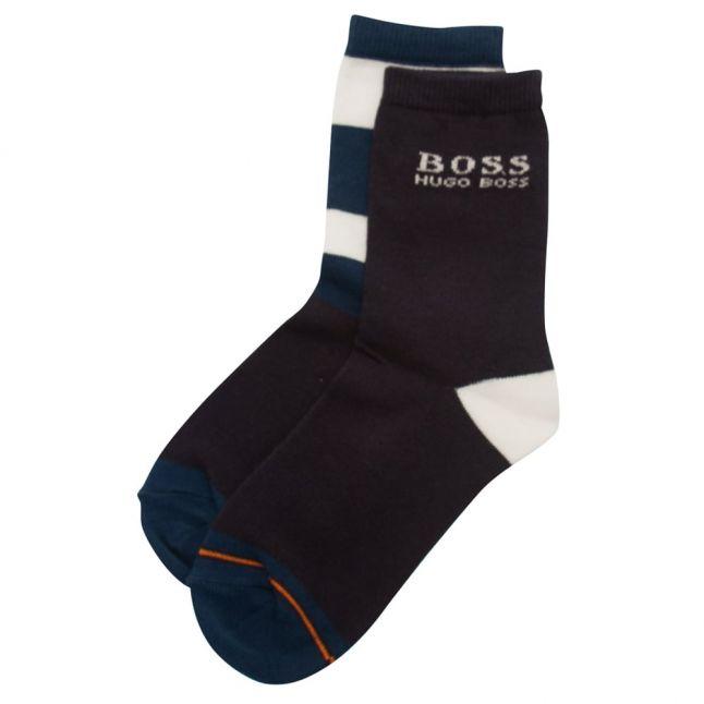 Boys Blue 2 Pack Socks