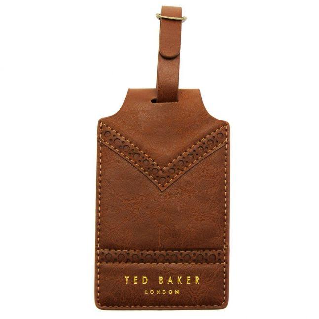 Brown Brogue Luggage Tag