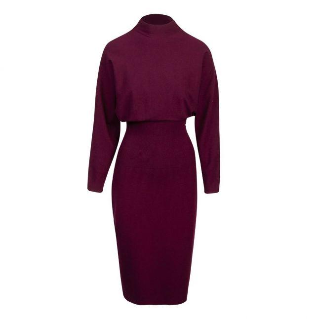 Womens Deep Purple Alice Cocoon Midi Dress