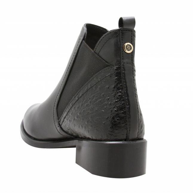 Womens Black Kico Zebra Ankle Boots
