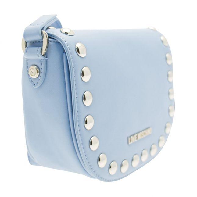 Womens Blue Stud Cross Body Bag