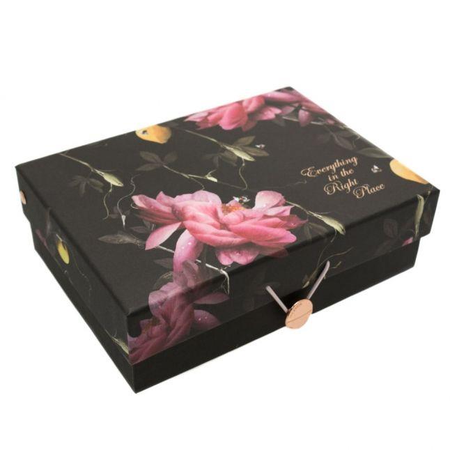 Womens Porcelain Rose Storage Boxes Set