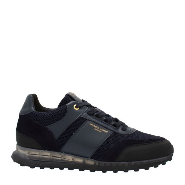 Mens Midnight Navy Abalone Knit Trainers