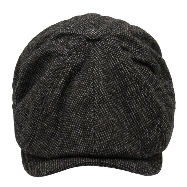 Mens Black Jazzed Bakerboy Hat
