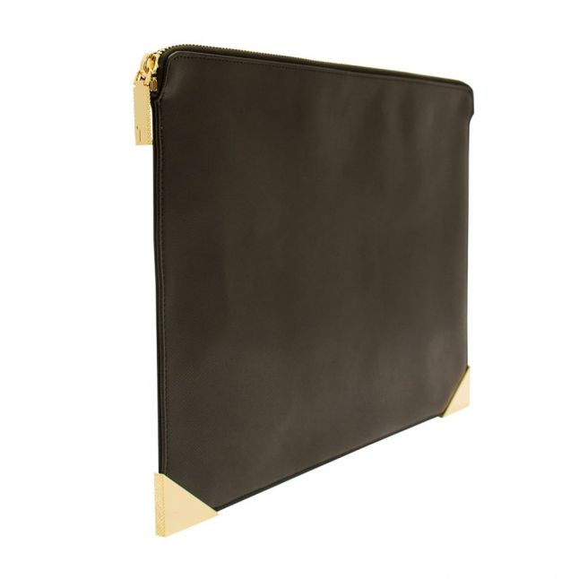 Womens Black Marlayn Leather Pouch