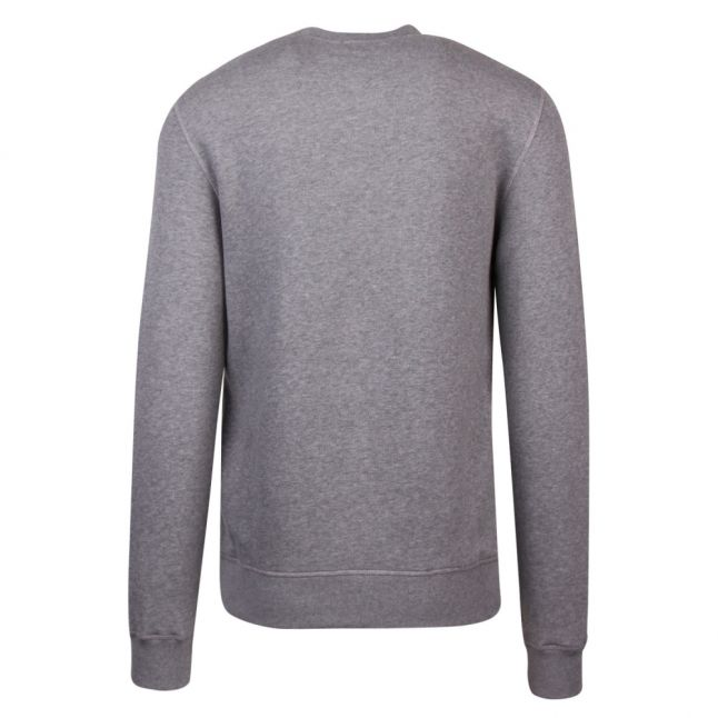 Mens Grey Branded Tab Crew Sweat Top