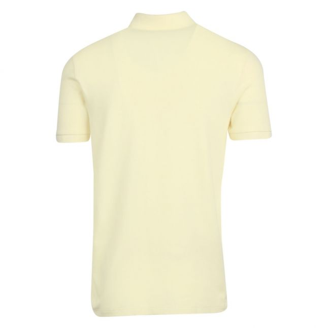 Casual Mens Pale Yellow Passenger Slim Fit S/s Polo Shirt