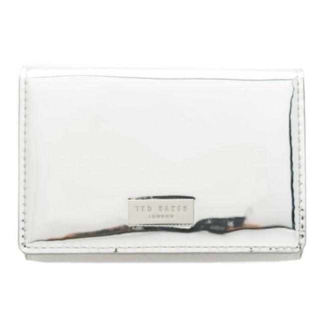 Womens Silver Antonie Metallic Fold Mini Purse