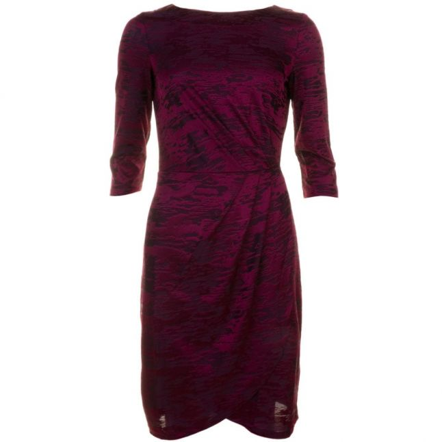 Womens Zinfandel Stable Jacquard Wrap Dress