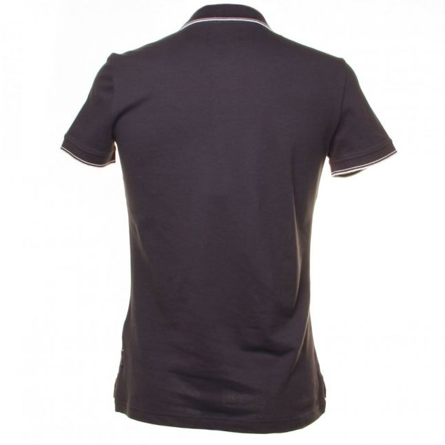 Mens Navy Extra Slim Tipped S/S Polo Shirt