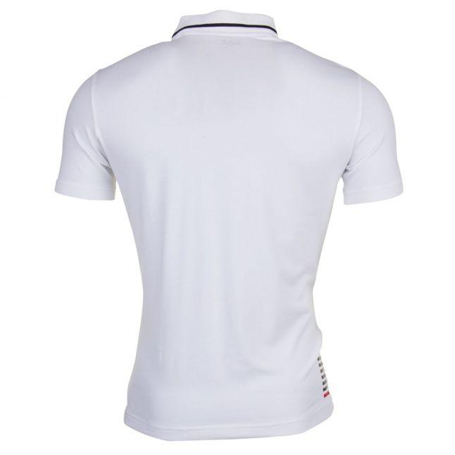 Mens White Train Core ID S/s Polo Shirt