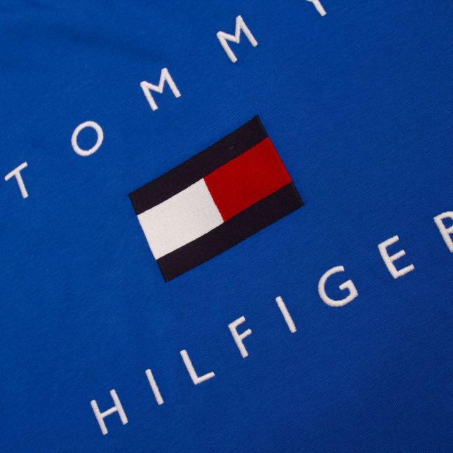 Tommy Hilfiger Mens Electric Blue Tommy Flag Hilfiger S/s T Shirt