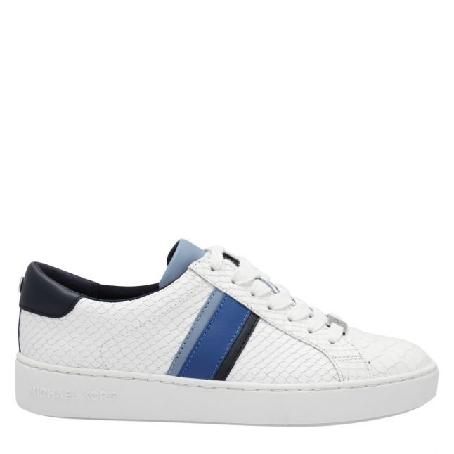 Womens Optic White Irving Logo Stripe Trainers