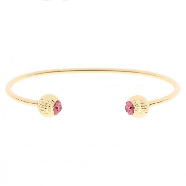 Womens Gold & Indian Pink Adellia Cuff Bracelet