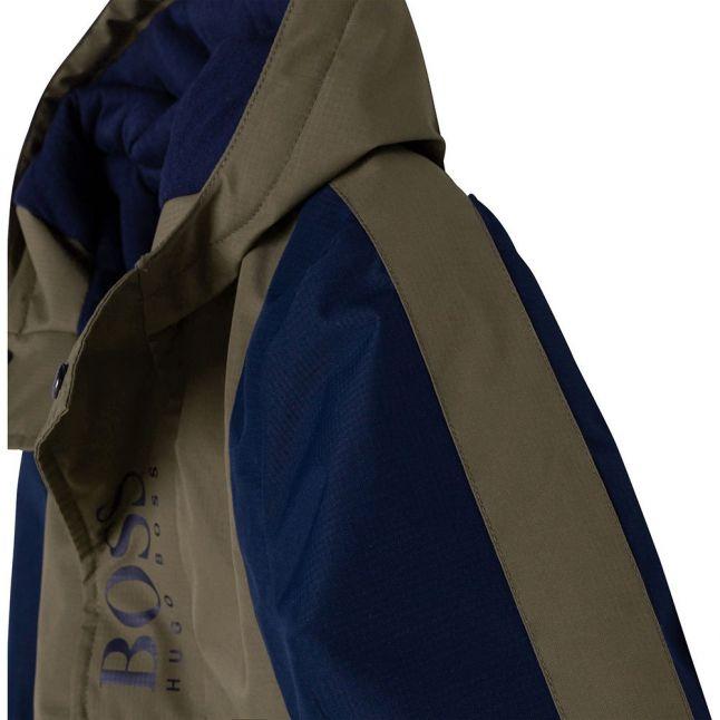 Boys Khaki Colourblock Overhead Jacket