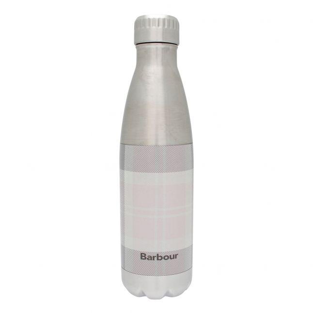 Womens Pink/Grey Tartan Water Bottle