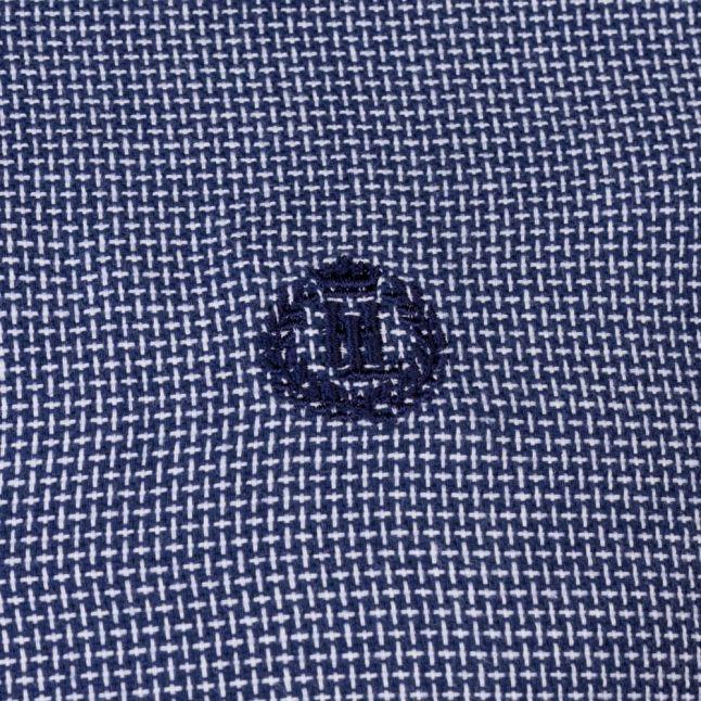Mens Navy Lagan Regular Fit L/s Shirt