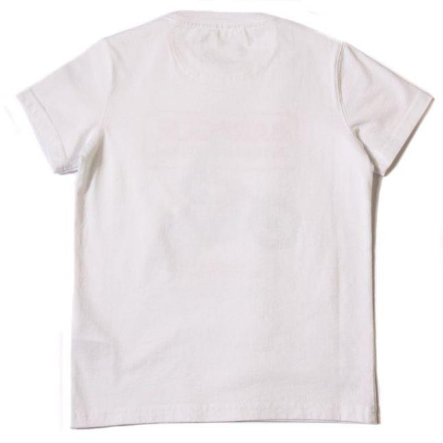 Boys White Motor S/s Tee Shirt
