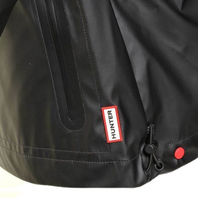 Womens Black Rubberised Windcheater Jacket