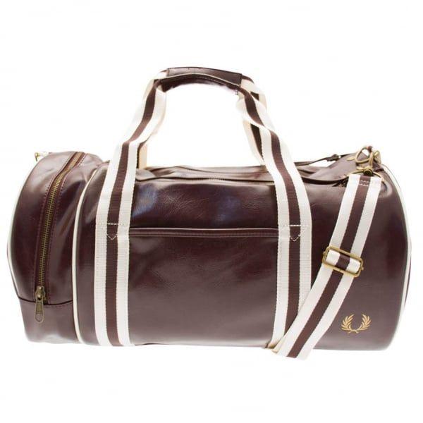 Mens Maroon Classic Barrel Bag