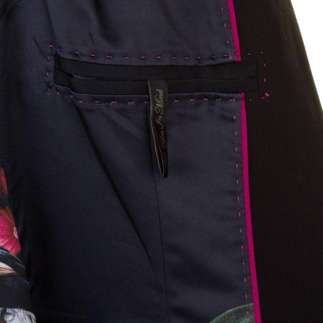 Womens Black Maggyy Ottoman Cape Blazer