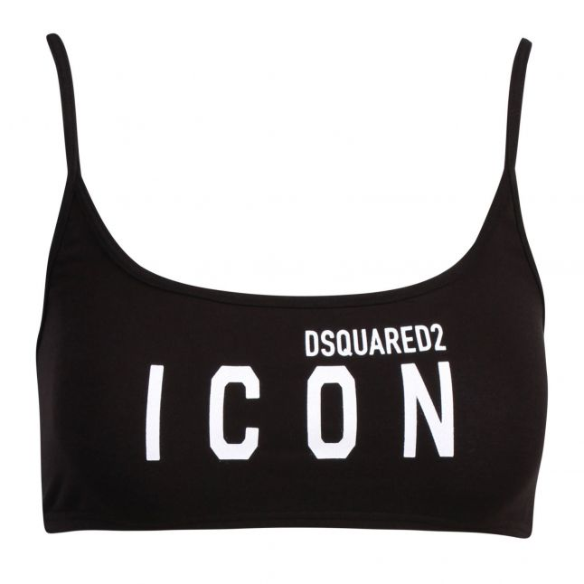 Womens Black Icon Sports Bra