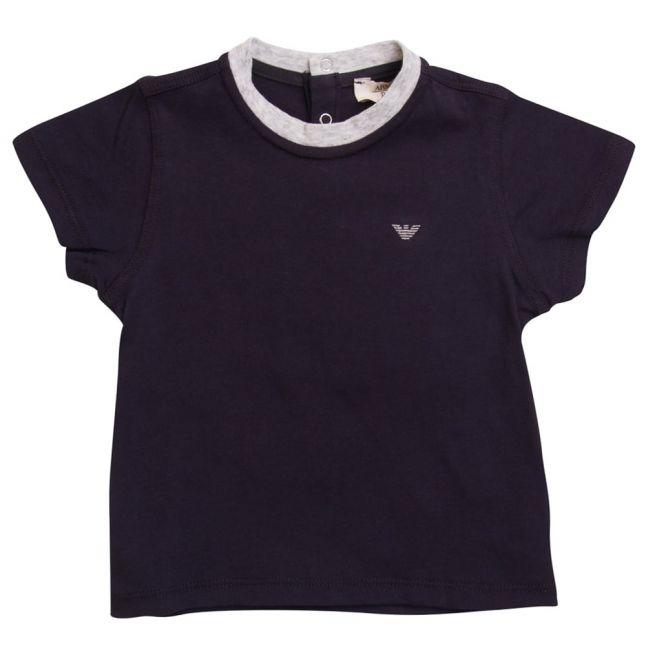 Baby Blue Small Logo S/s Tee Shirt
