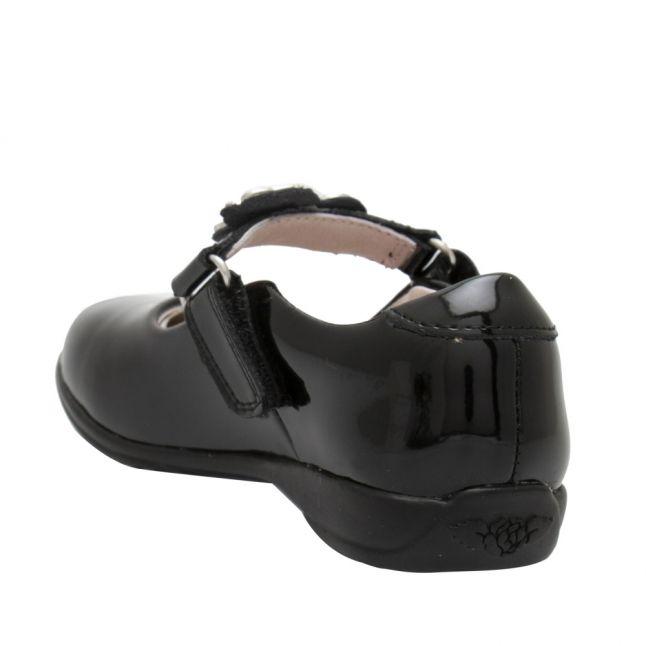 Girls Black Patent Blossom Unicorn F Fit Shoes (26-37)