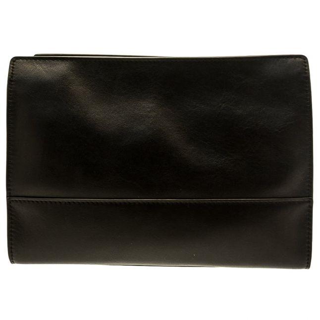Womens Black & Porcelain Leather Daphne Cross Body Bag