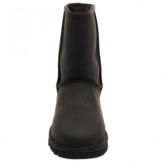 Womens Black Classic Short Leather Boots