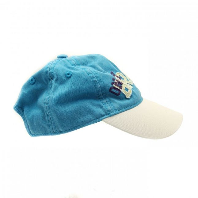 Boys Fuphia Cap in White & Turquoise