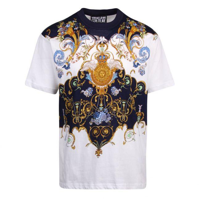 Mens White Tuileries Panel Regular Fit S/s T Shirt